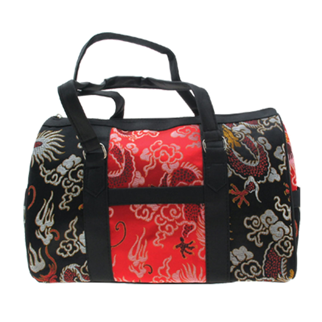 Fashion Jewelry Designer Embroidery Ladylike Shoulder Bag Black and Red