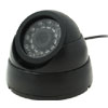 PAL Round Wired Color CCD Dome Camera for Home Surveillance