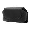 Faux Leather Case Holder for Motorola E6 - Black