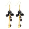 Fashion Jewelry Artsy Handcraft Clear Black Earrings