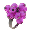 Fashion Jewelry Purple Beads Finger Ring