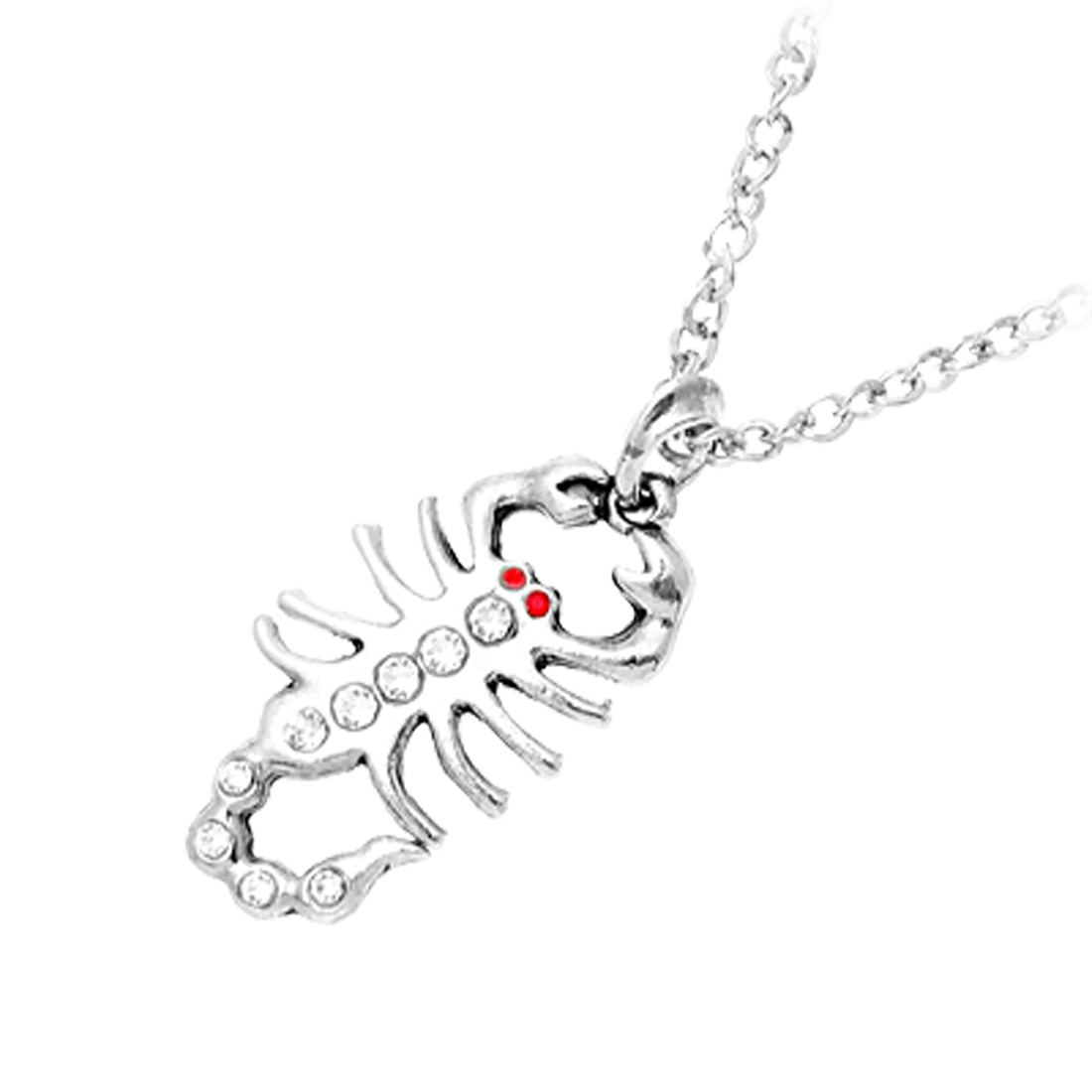 Fashion Jewelry Lobster Pendant with Man-made Crystal Chain Necklace