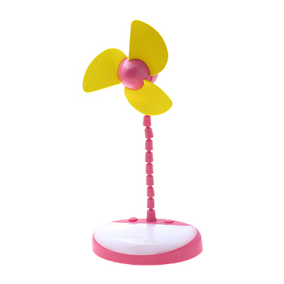Desk-top USB Fan with Light - Red