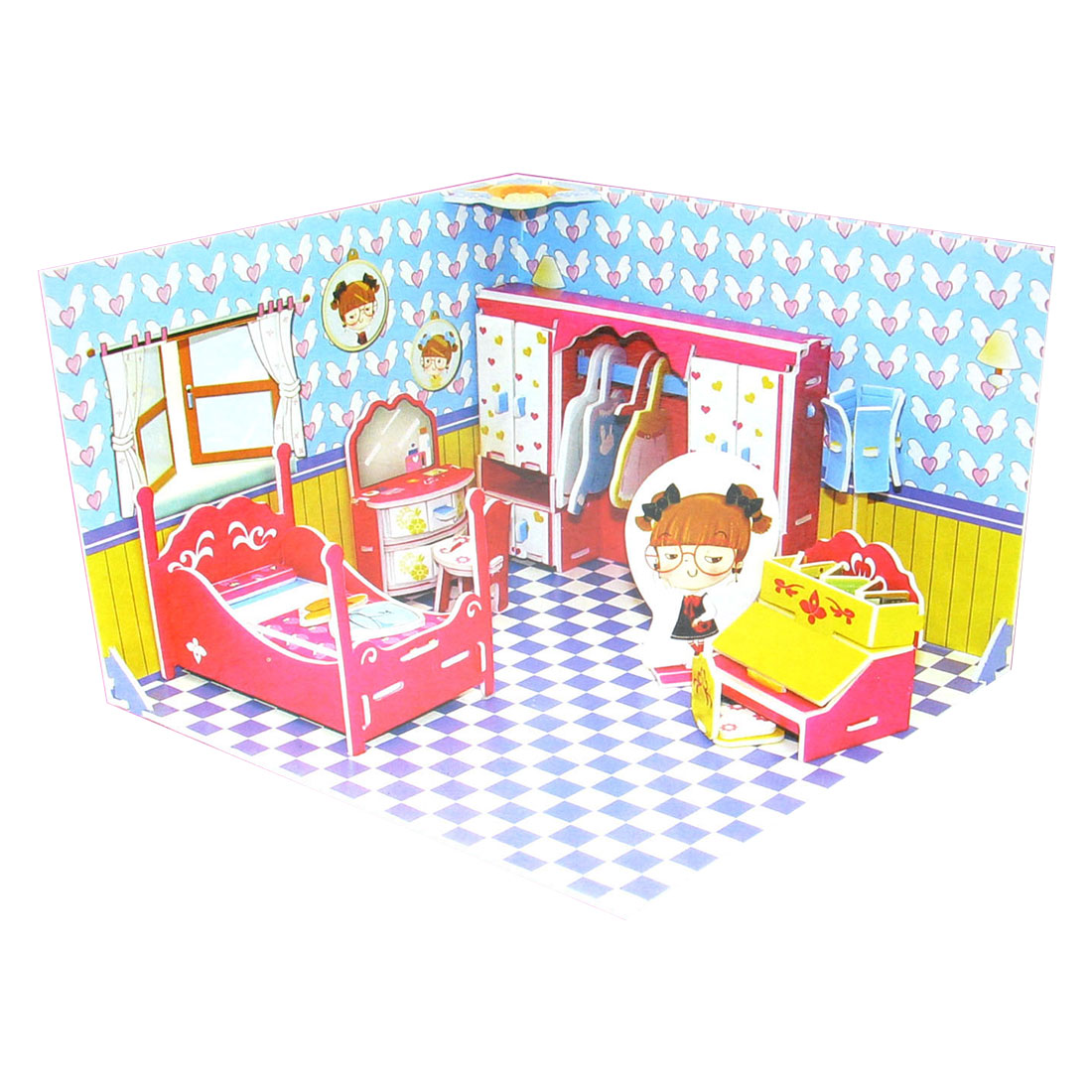 Educational Honey Bedroom 3D Puzzle Toy