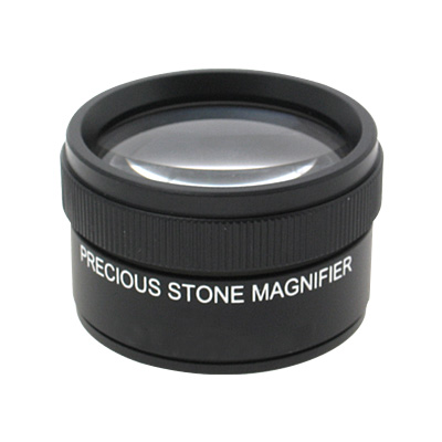 Precision Optical Dual Lens Stone Magnifier Magnifying Glass