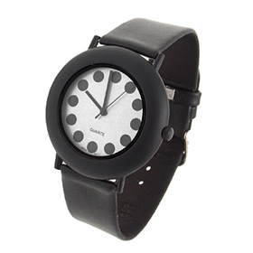 Fashion Jewerly Decent Quartz Wrist Watches Black Strap And White Background