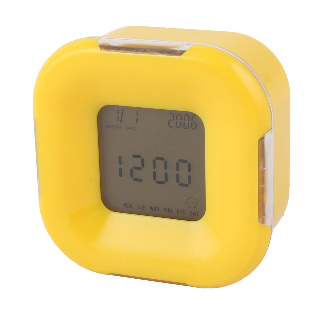 Pop Art Digital Square Clock - Yellow