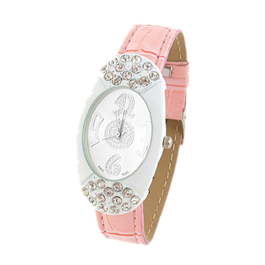 Fashion Jewelry Exquisite White Quartz Watch Wrist Watch- Red strap