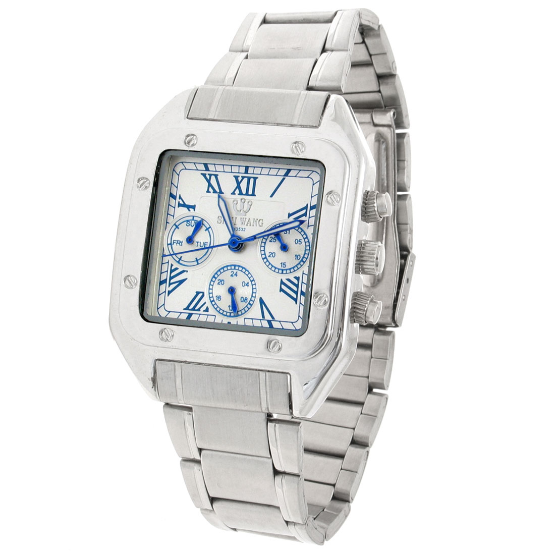 High Quality Fashion Men's Quartz Metal Wrist Watches(H3532) Silver