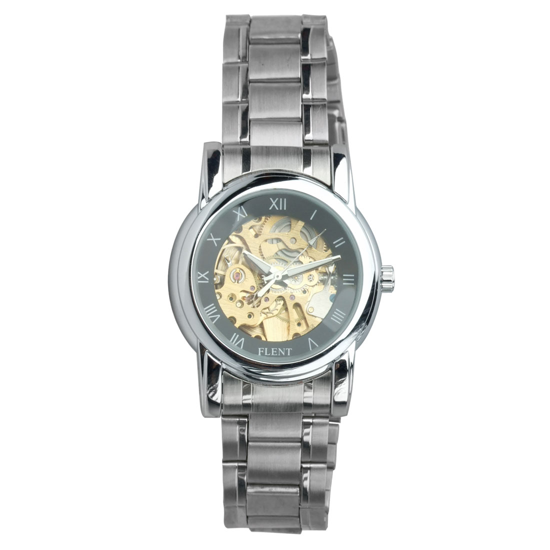 Fashion Jewelry Stylish Stainless Steel Mechanism Quartz Watch - Black Hand