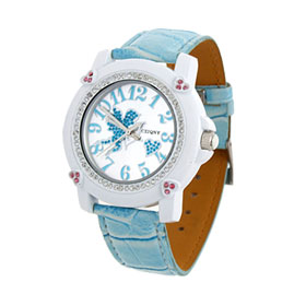 Fashion Jewelry Elegant Man-made Blue Leather Quartz Watch Wrist Watch