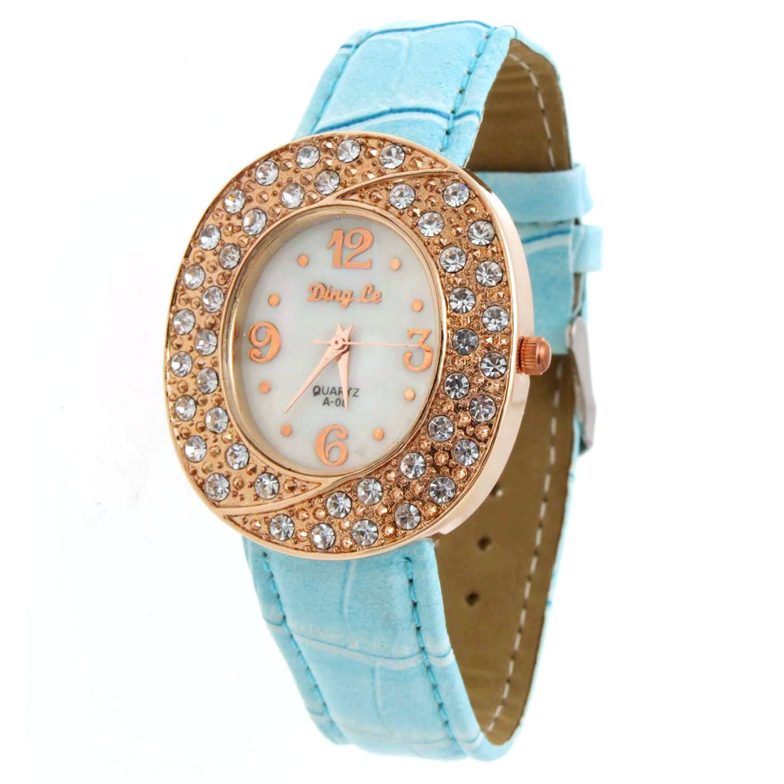 Stylish Fashionable Simulated Crystal Womens Wristwatches