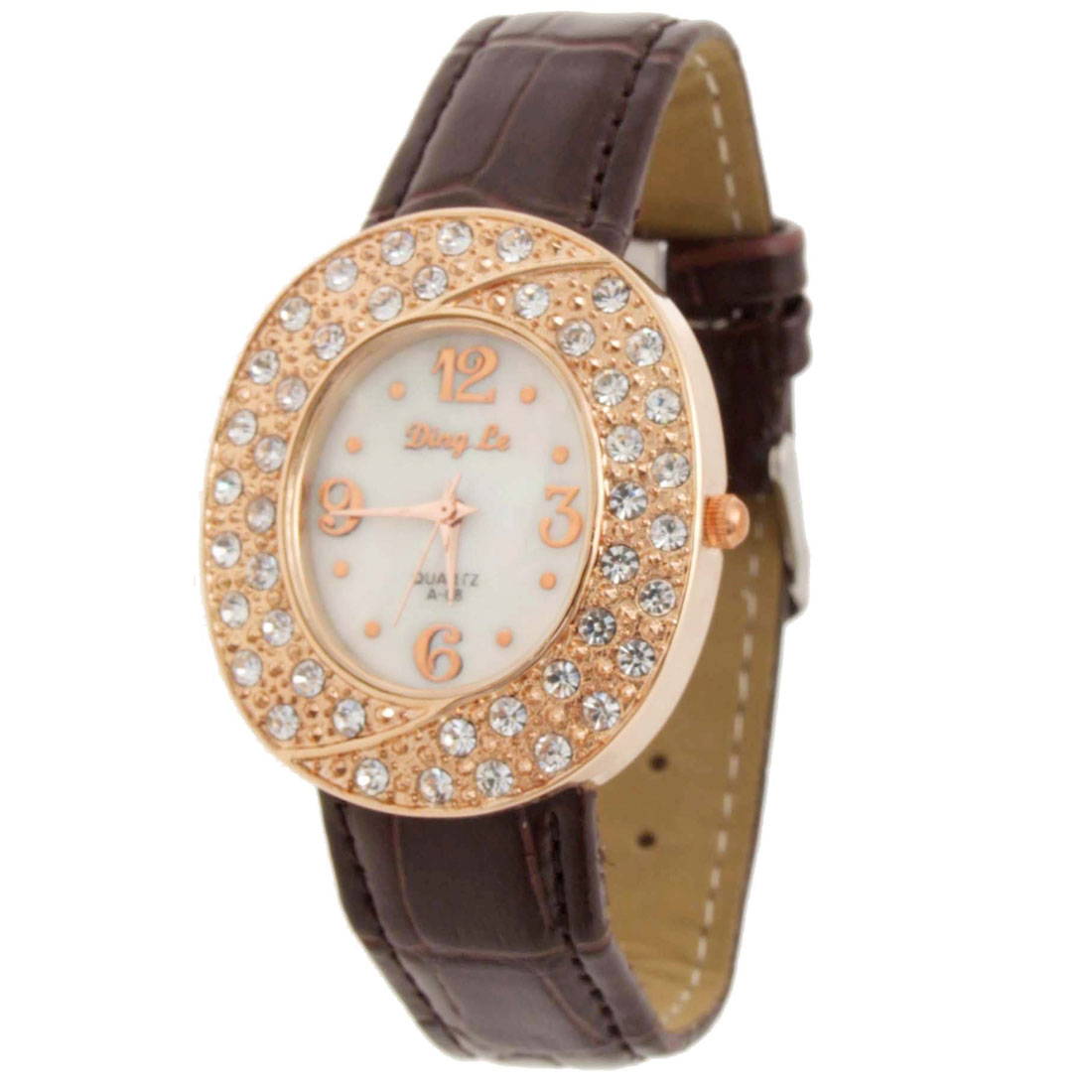Fashion Jewelry Fashionalble Simulated Crystal Wristwatch