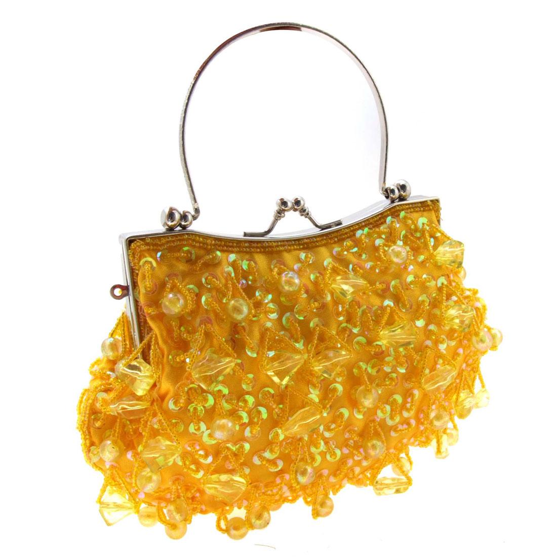 Ladylike Women Bag Handbag w/Beads/Sequins/Inner Purse