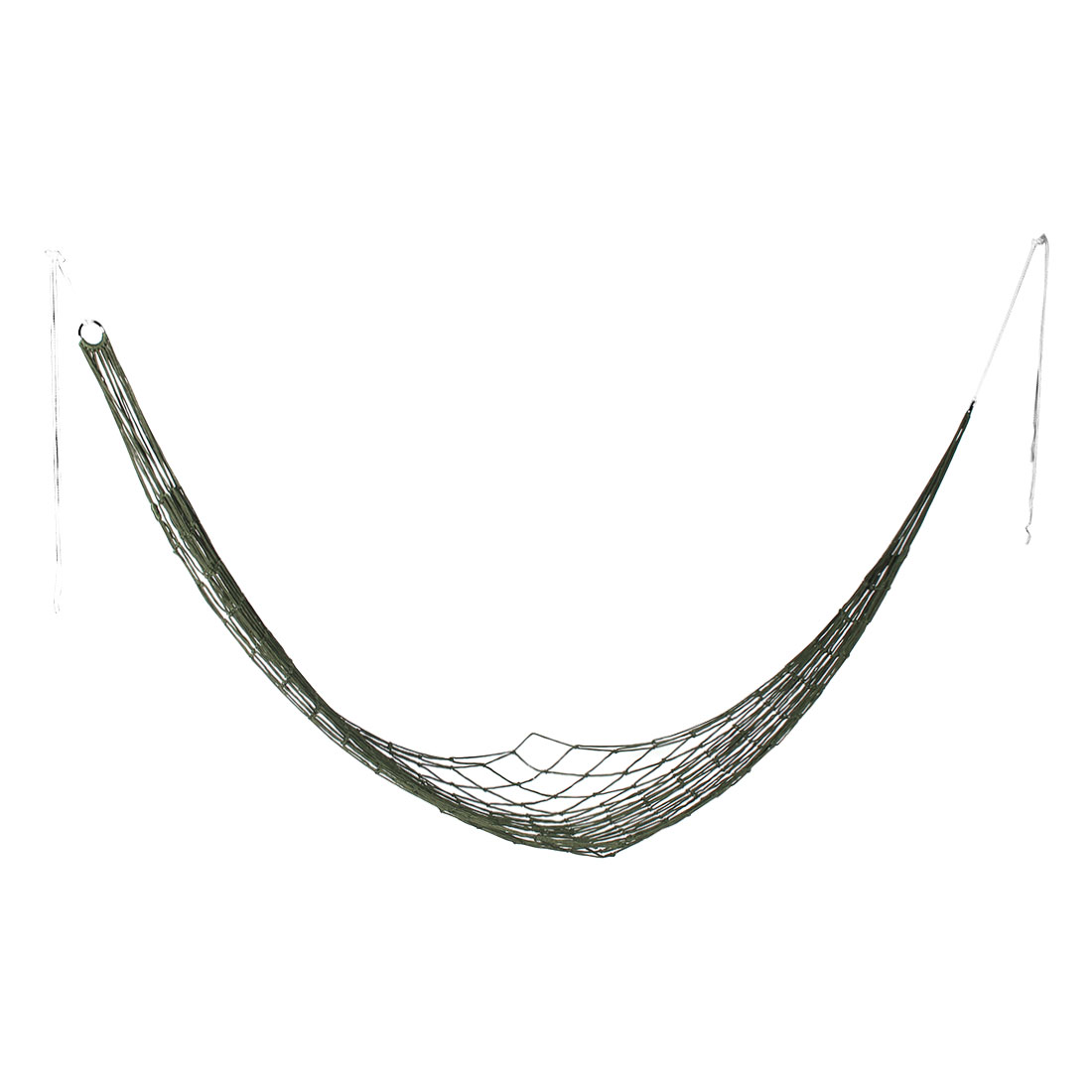 Outdoors Hiking Nylon Hammock Hanging Bed Meshy Sleeping Net Rope Army green