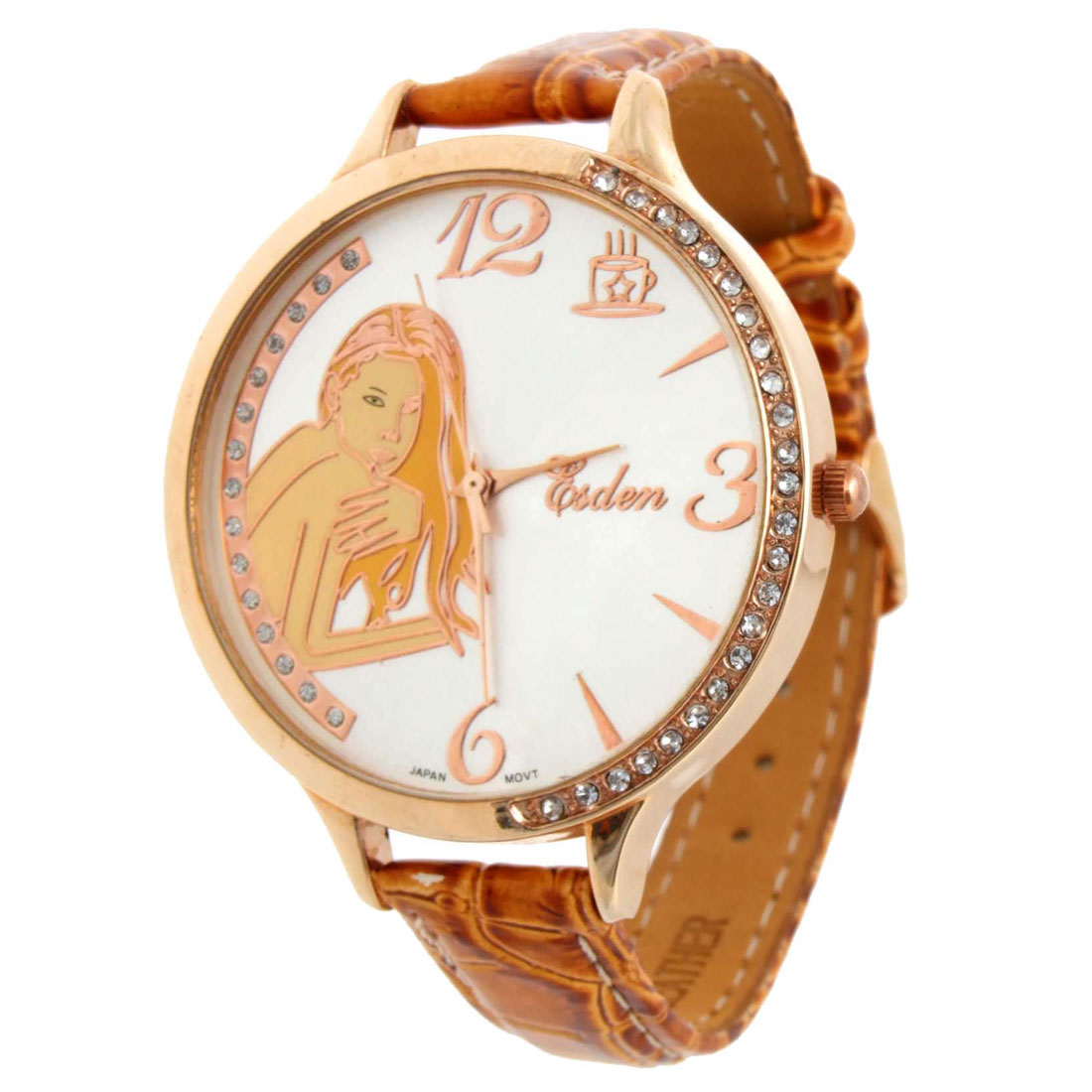 Fashion Jewelry Naked Woman White Wrist Quartz Watch