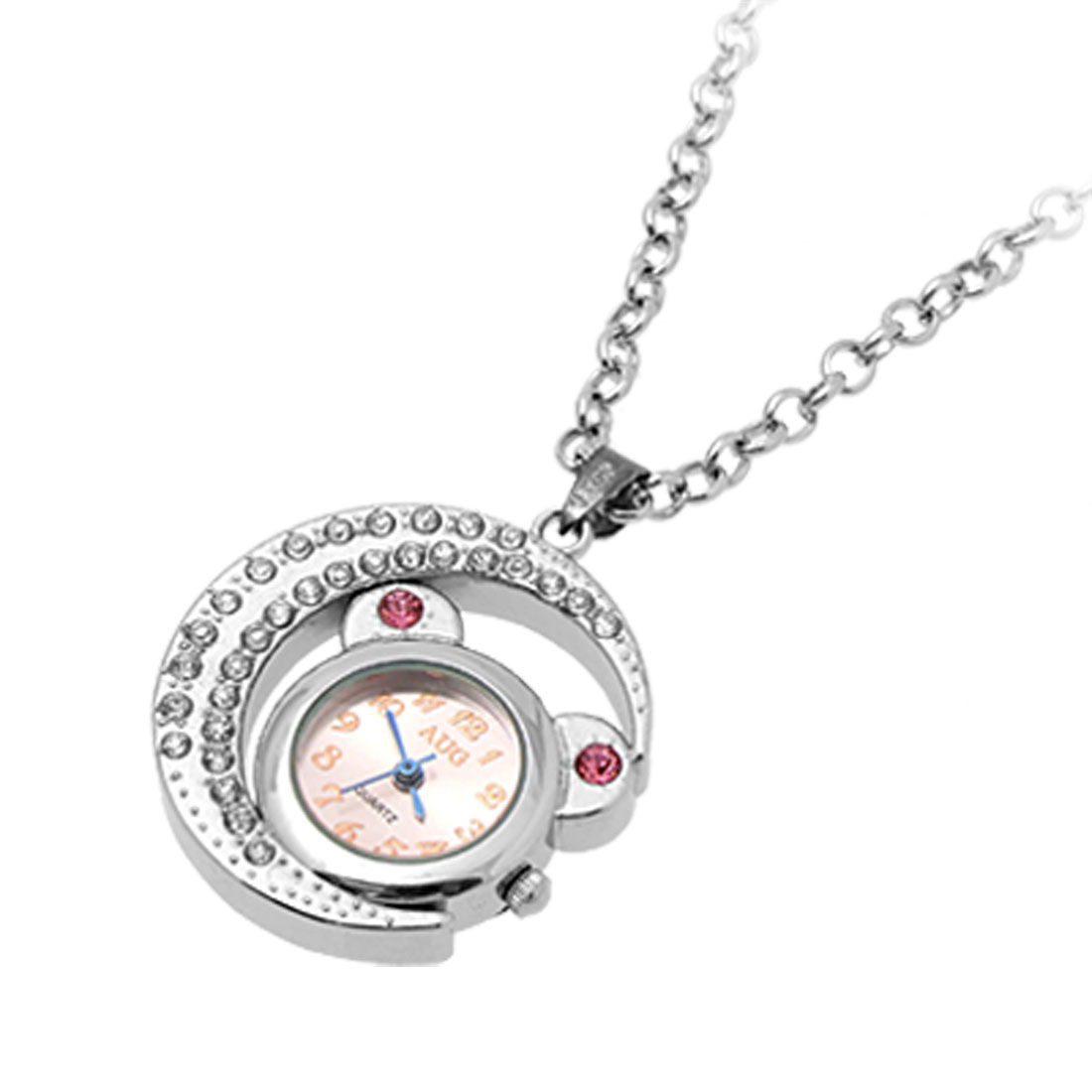 Jewelry Necklace Fairy Cat Moon Pendant Quartz Watches