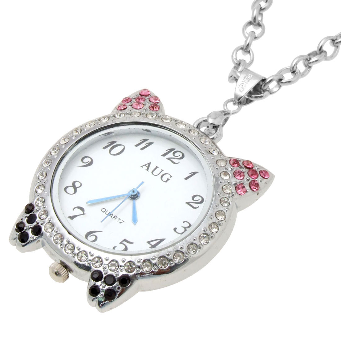Fashion Jewelry Elegance Necklace Flier Piggy w.Crystal Pendant Quartz Watch