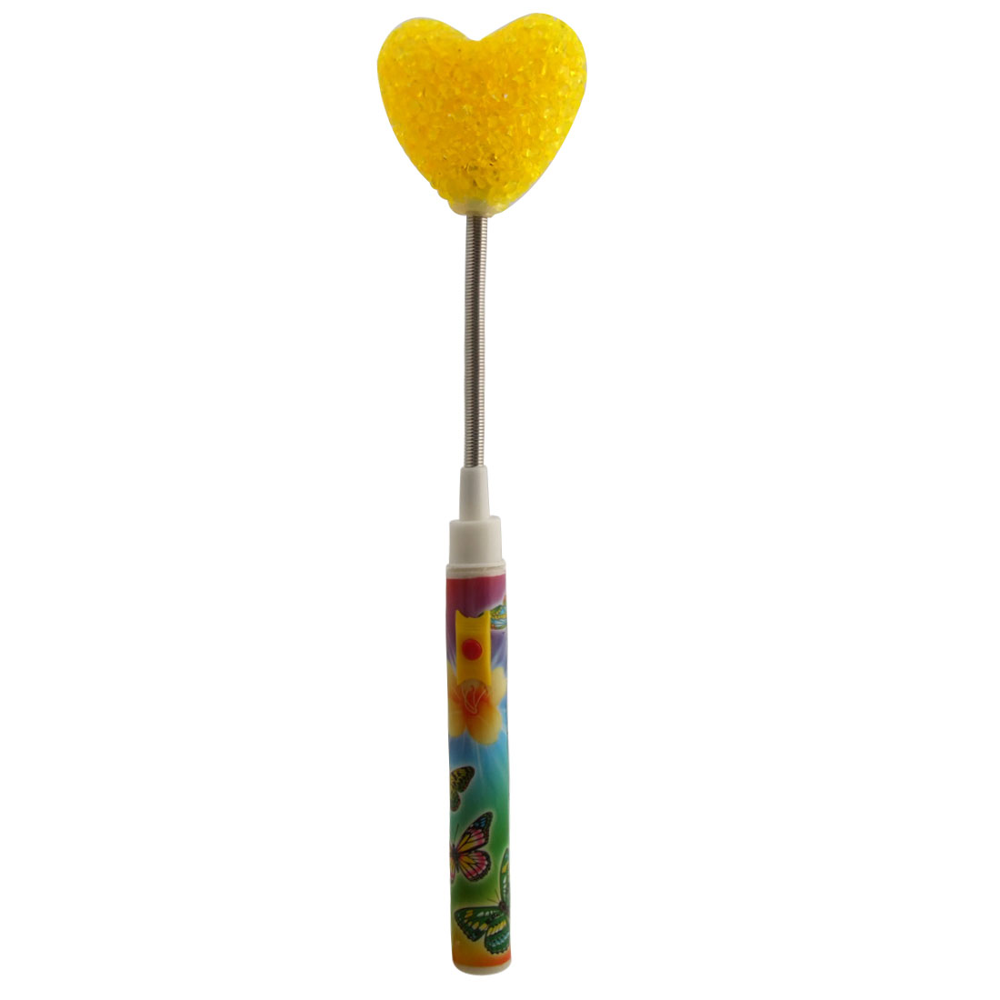 Heart Shaped Yellow X'mas Christmas Lamp Bell Party Rattle Stick