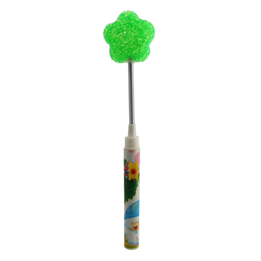 X'mas Christmas Lamp Bell Party Rattle Stick Flower Green