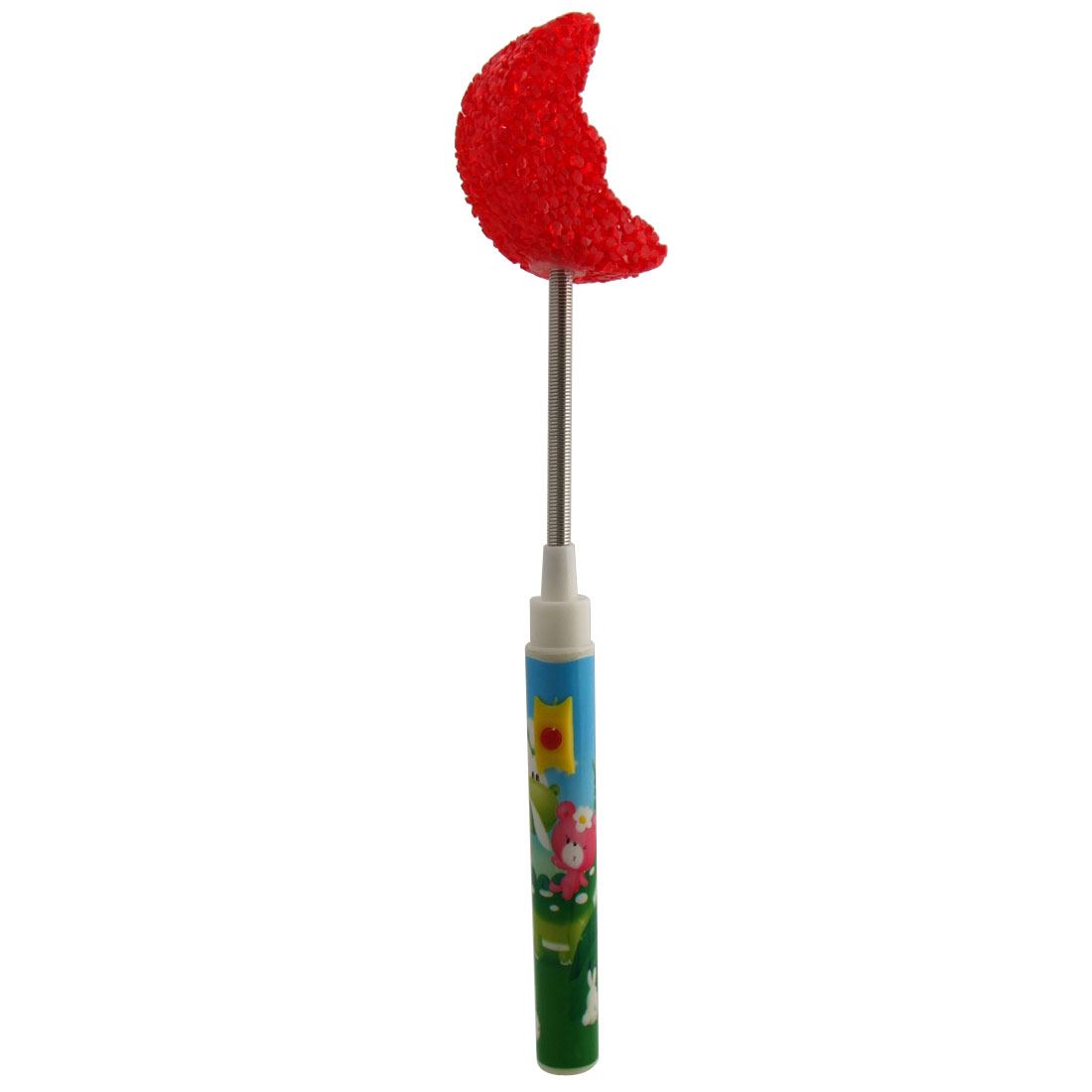 X'mas Christmas Lamp Bell Party Rattle Stick Crescent Red