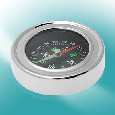 Classical Round Compass - Silvery