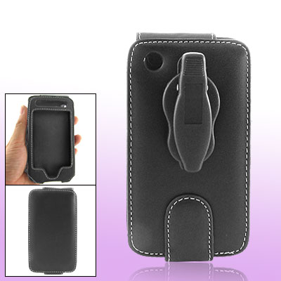 Black Leather Case with Clip for Apple iPhone 1st Generation