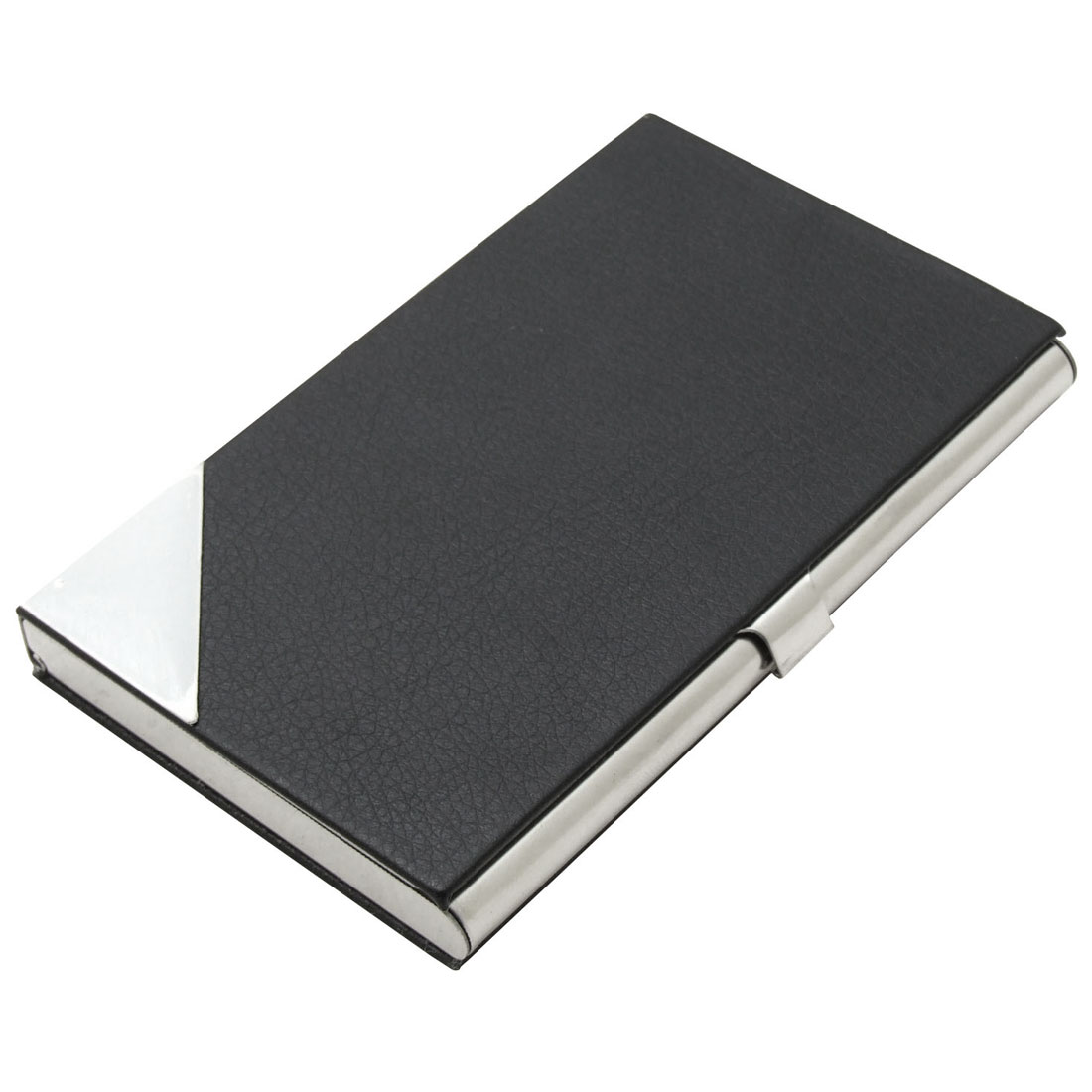 Black Coated Leather Business Cards / Credit Cards Holder
