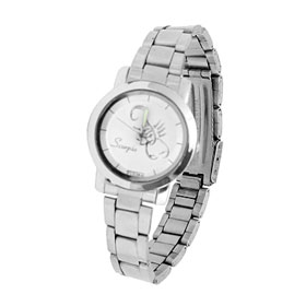 Fashion Stainless Steel Quartz Wristwatch for Lady