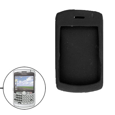 Silicone Skin Protector Case for Blackberry 8300- Black