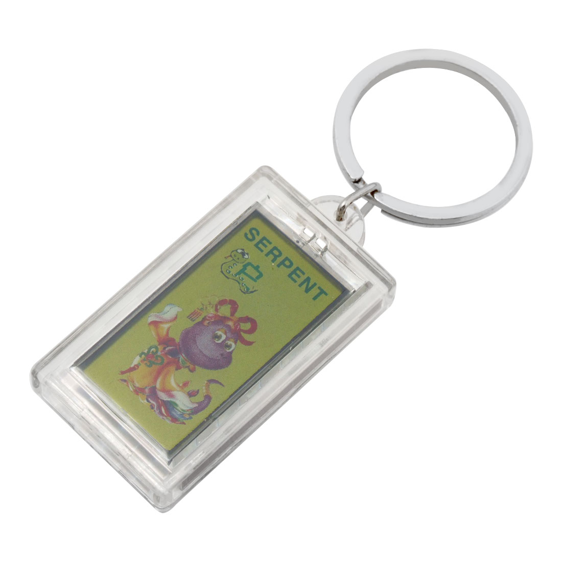 Solar Powerd Cartoon Snake Picture Key Ring