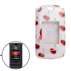 Plastic Cover Case for Motorola V8 -cherry