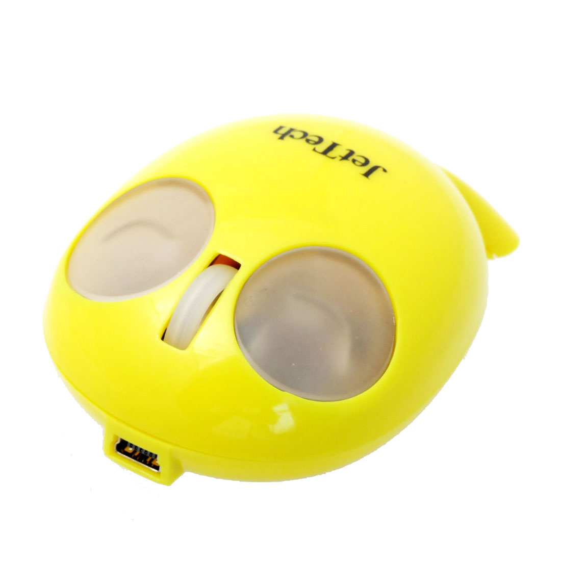 Mini USB + PS/2 Optical Mouse for Notebook 800DPI Yellow