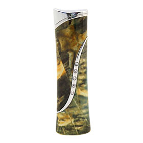 Tiger Pattern w/Crystal Windproof Cigarette Cigar Lighter