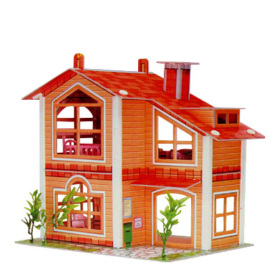 Beautiful Villa 3D Brain Teaser Puzzle for DIY Lover