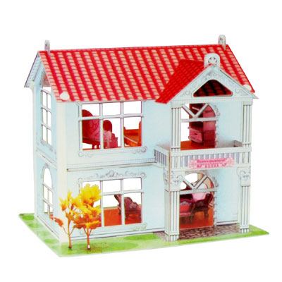 3D- Educational Beautiful Villa Puzzle for DIY Lover