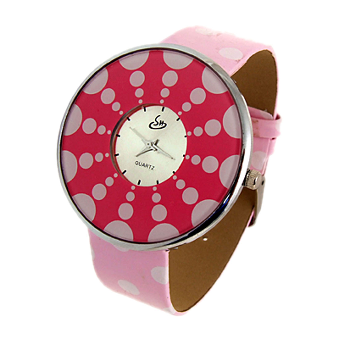 Jewelry Polka Dot Pink Band Quartz Watch