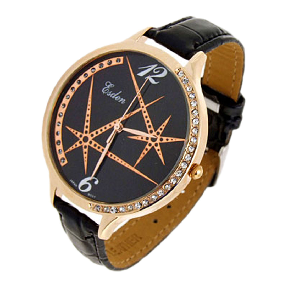 Fashion Jewelry Universe Quartz Wrist Ladies Fashion Watches Black Band