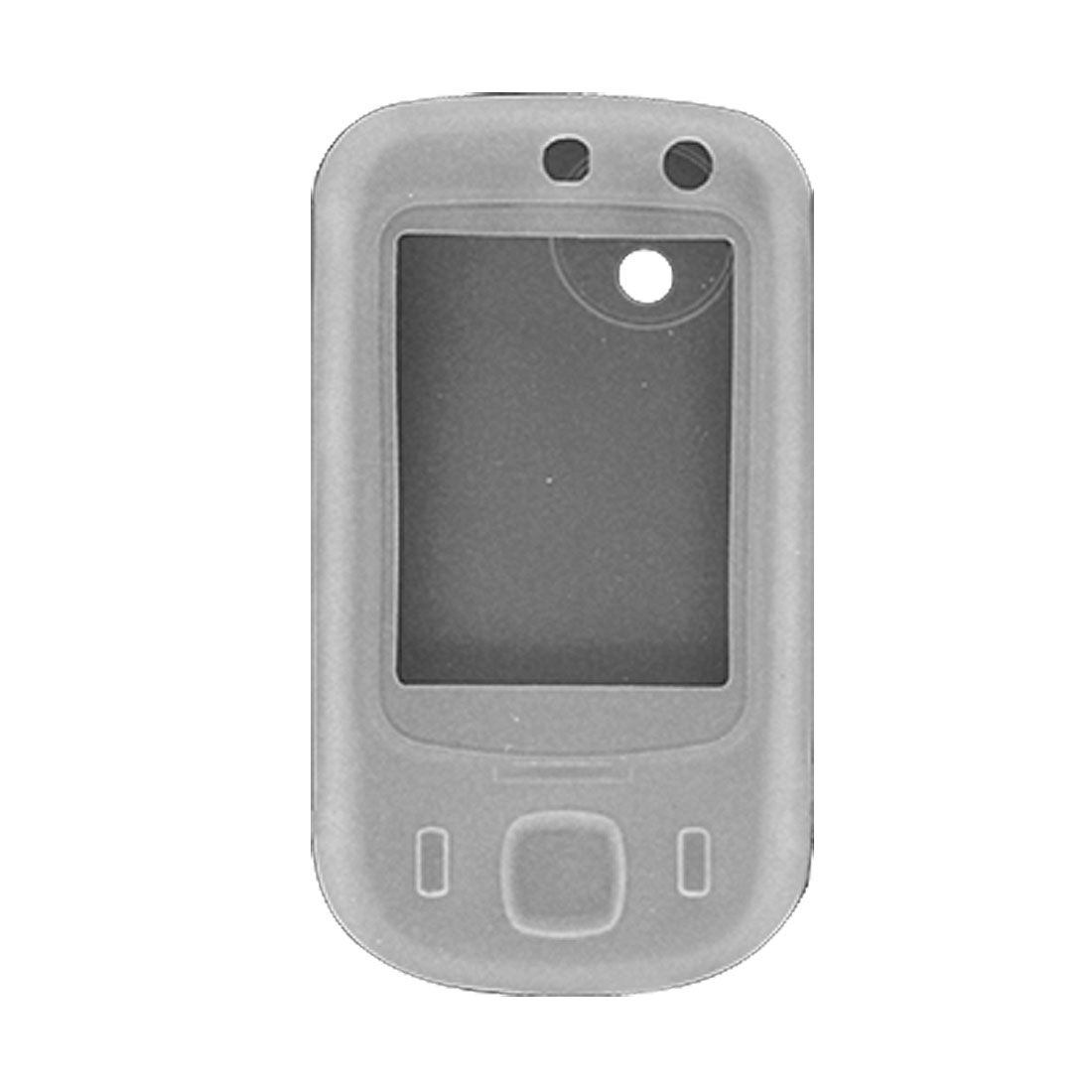 Clear White Silicone Case For HTC Touch Dual
