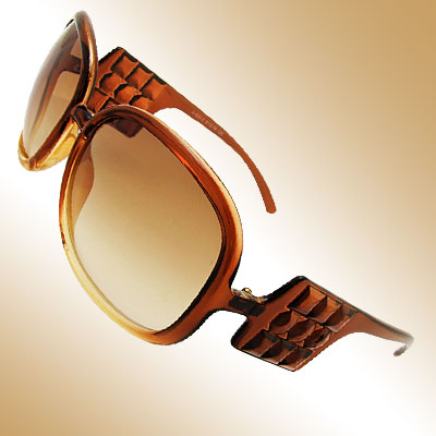 Cool Audrey Brown Frame and Lens Fashion Eyewear Sunglasses