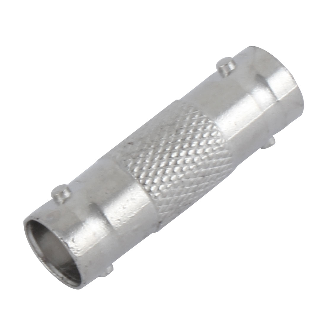 Household Female to Female In-line BNC Splice Connector Adapter Silver Tone
