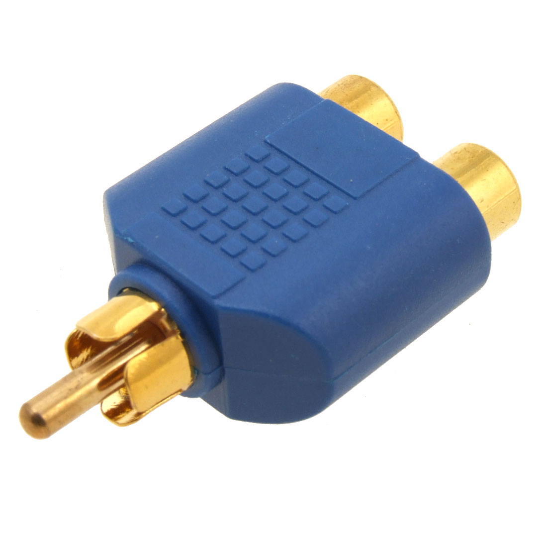 2 RCA Female to RCA Male Audio Converter Adapter Blue