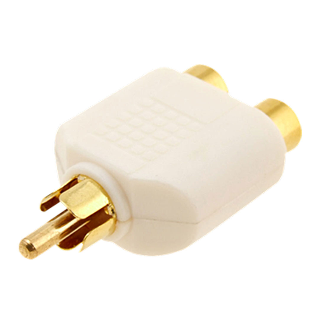 1 Male to 2 Female Digital RCA AV Splitter Plug Adapter