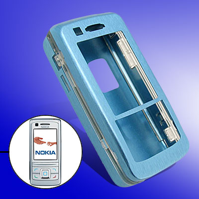 Blue Slim Aluminum Protector Hard Case for Nokia 6280