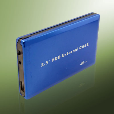 "2.5"" USB 2.0 HDD Hard Drive Drive Blue External Case box"