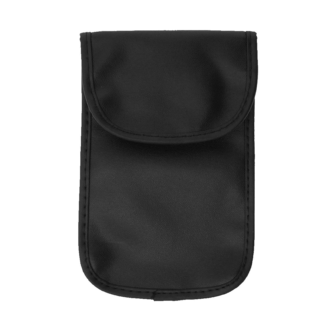 Black Mobile Cell Phone Pouch MP3 Screen Protector Leather Case Holder