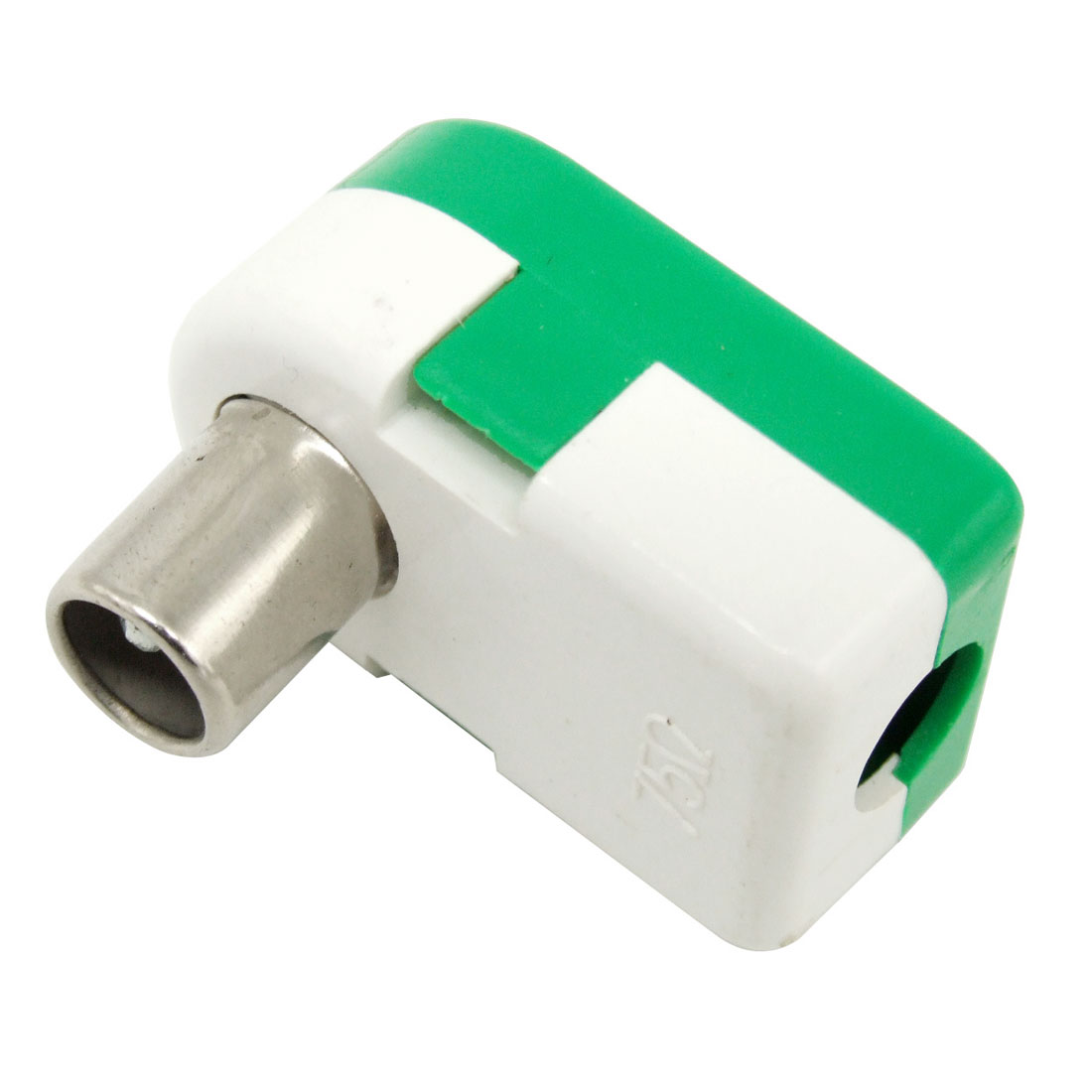 Right Angle TV Jack Aerial Antenna Connector Green