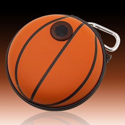 Portable Basketaball Carrying Case Speakers for MP3 MP4 CD