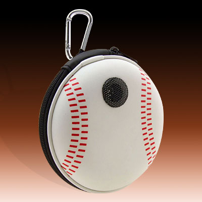 Portable Baseball Carrying Case Speakers for MP3 MP4 CD
