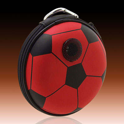 Portable Football Carrying Case Speakers for MP3 MP4 CD